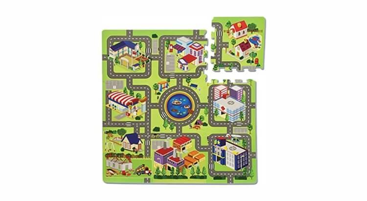 Migliori tappeti puzzle atossici:Tappeto Allegra Città di Teorema