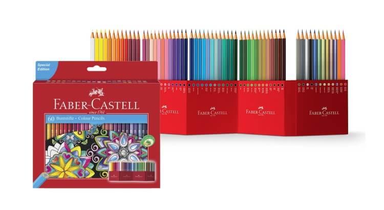 Migliori matite colorate:Set da 60 pezzi di Faber-Castell