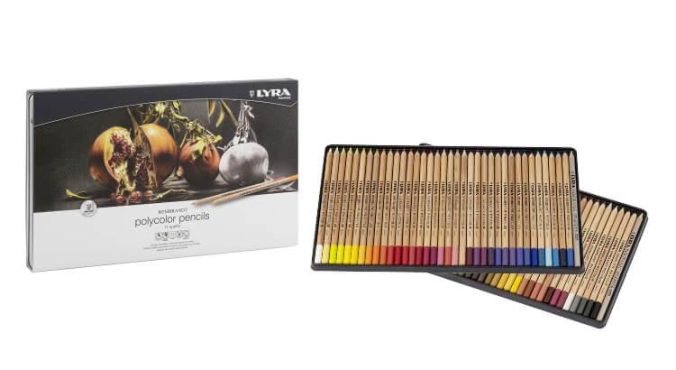 Migliori matite colorate:Confezione in metallo da 72 pezzi Rembrandt Polycolor di Lyra
