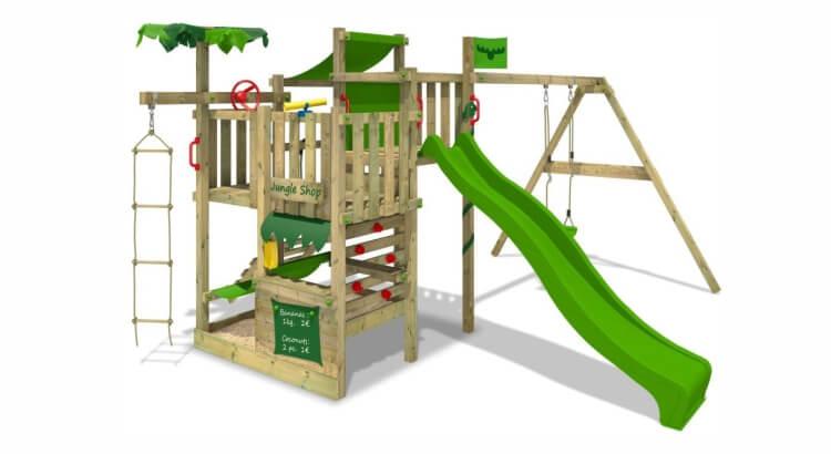 Miglior parco giochi in legno:Parco giochi BananaBeach Big XXL SuperSwing di Fatmoose