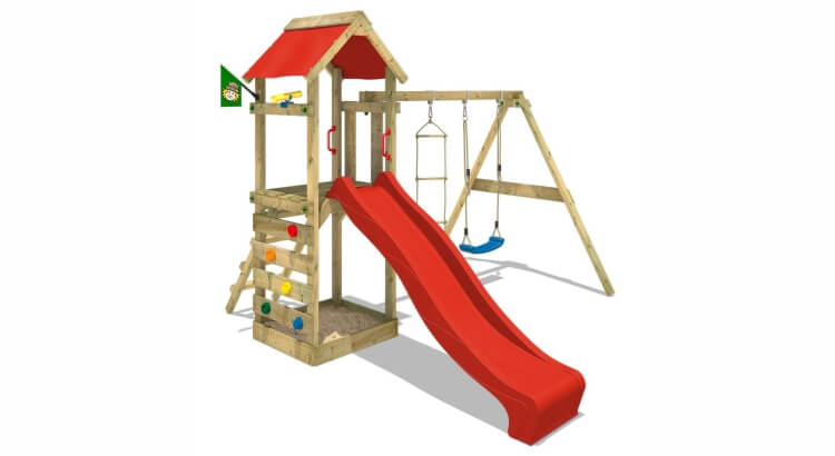Miglior parco giochi in legno:Parco giochi Free Flyer di Wickey