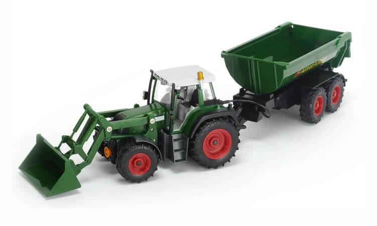 Migliori trattori elettrici per bambini:Trattore radiocomandato con ruspa e rimorchio di Dickie Toys