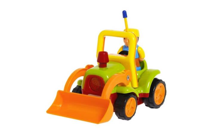 Migliori trattori elettrici per bambini:Trattore telecomandato con ruspa di Tonor