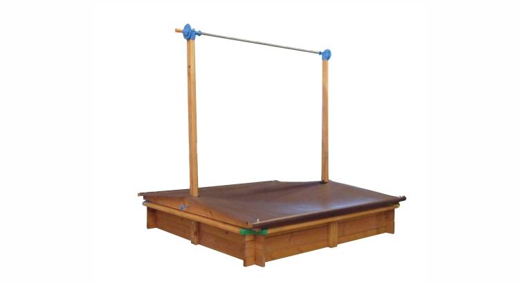 Migliori sabbiere in legno: Sabbiera Mickey con tetto mobile di GASPO