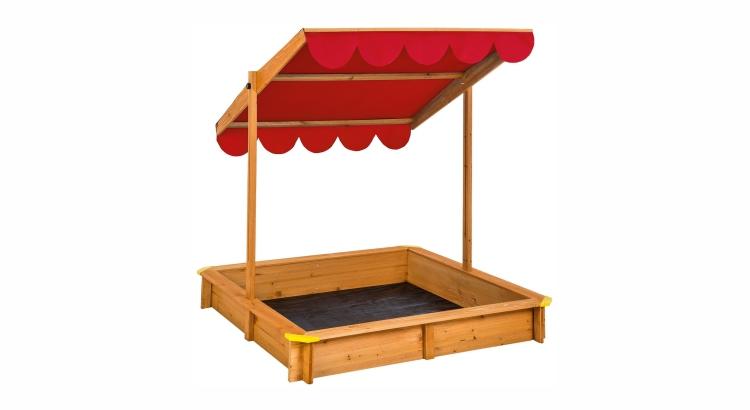 Migliori sabbiere in legno: Sabbionaia con tetto regolabile di TecTake