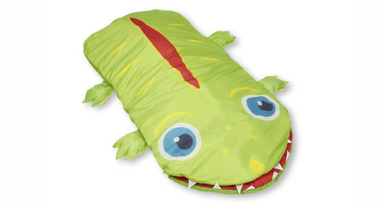 Miglior sacco a pelo per bambini:Sacco a pelo Alligatore Augie di Melissa & Doug