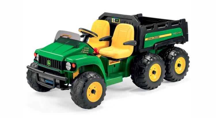 Migliori trattori elettrici per bambini:Trattore elettrico John Deere Gator 6x4 di Peg Perego