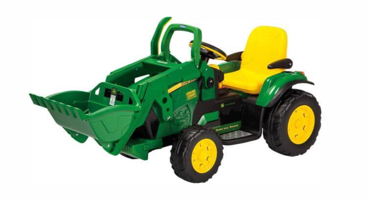 Migliori trattori elettrici per bambini:Trattore elettrico John Deere Ground Loader di Peg Perego