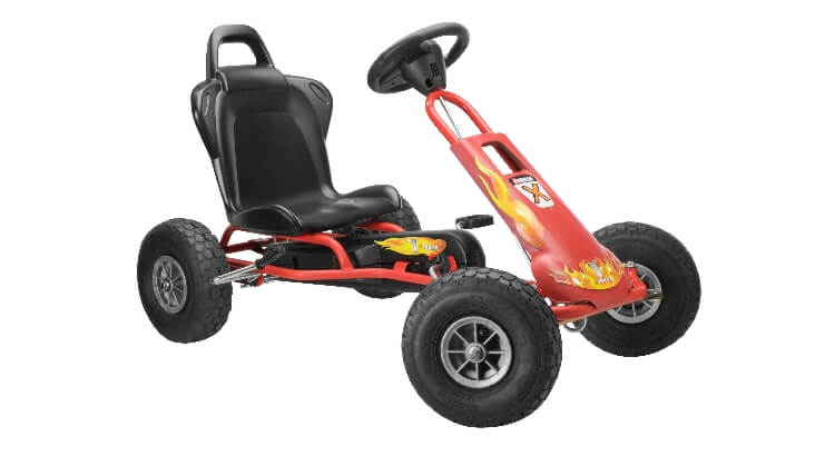 Go kart a pedali per bambini: Air Runner Fire di Ferbedo