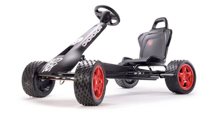 Go kart a pedali per bambini: Cross-Racer Bad Boy di Ferbedo