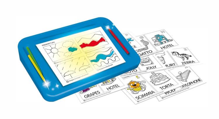 Migliori lavagne luminose per bambini:Scuola di scrittura Carotina Preschool di Lisciani