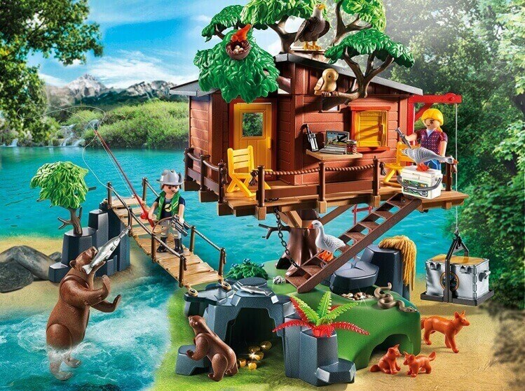 Più belli set di PLAYMOBIL del momento:Casa-Avventura Sull'Albero, con Ponte Sospeso di PLAYMOBIL® Wild Life