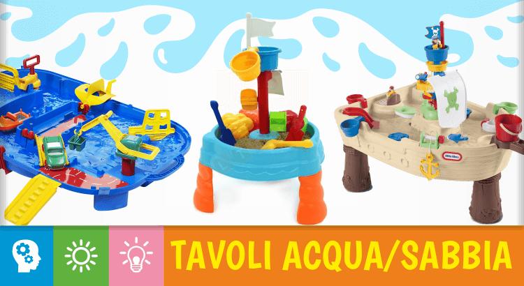 10 tavoli multiattività acqua e sabbia