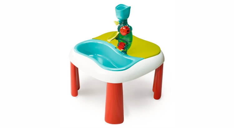 Tavoli per giocare con acqua e sabbia: Tavolino multiattività acqua e sabbia di Smoby