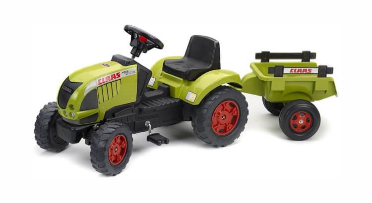 Migliori trattori a pedali per bambini:Trattore con rimorchio Claas Ares 657ATZ di Falk