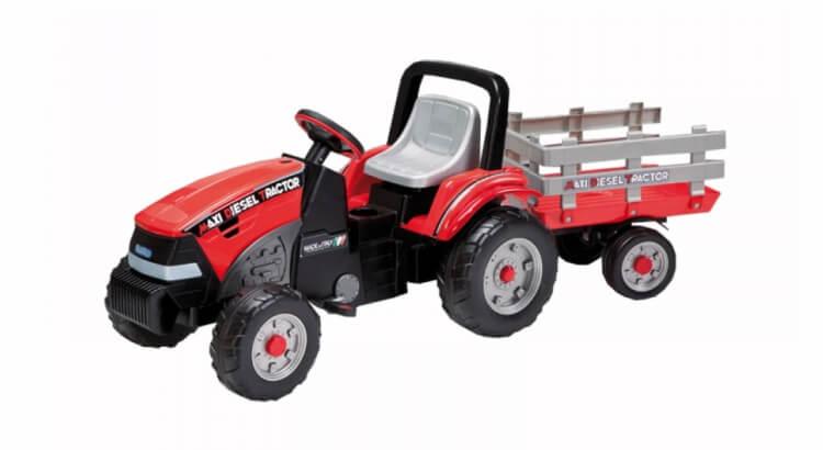 Migliori trattori a pedali per bambini:Trattore con rimorchio Maxi Diesel Tractor di Peg Perego