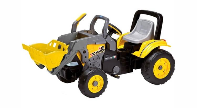 Migliori trattori a pedali per bambini:Maxi Excavator di Peg Perego