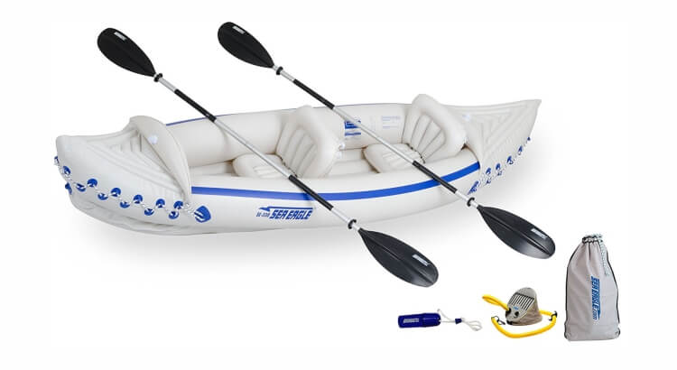Migliori kayak e canoe gonfiabili: Kayak gonfiabile Sea Eagle 330 Deluxe Package di Sea Eagle
