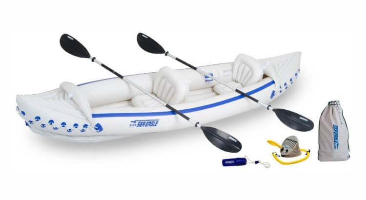 Migliori kayak e canoe gonfiabili: Sea Eagle 370 Pro-Package di Sea Eagle