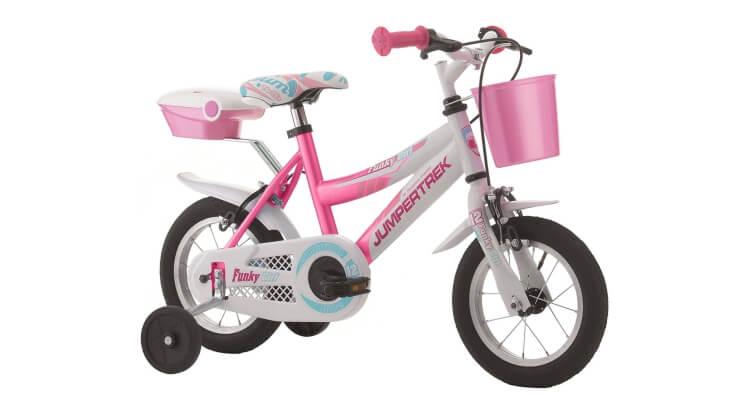 Migliori biciclette per bimbe di 2-4 anni: Bicicletta 12'' Funky Girl Jumpertrek di Cicli Cinzia