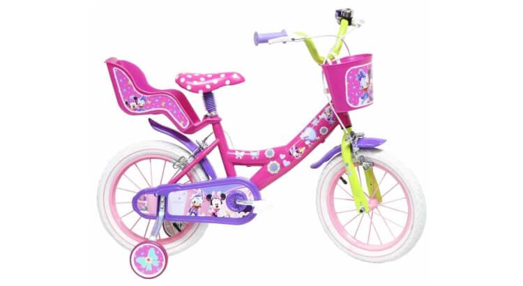Migliori biciclette per bimbe di 2-4 anni: Bicicletta 14'' licenza ufficiale Minnie di Disney