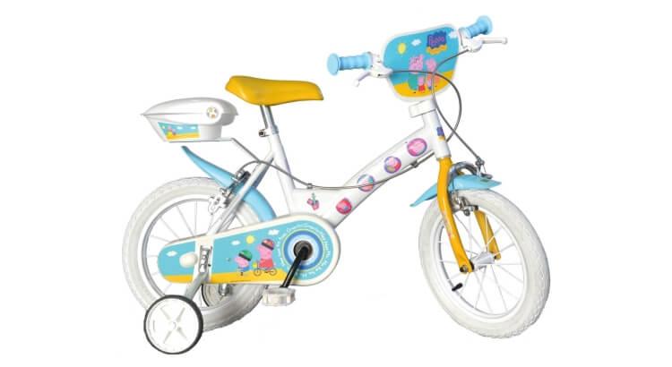Migliori biciclette per bimbe di 2-4 anni: Bicicletta 14'' Peppa Pig di Dino Bikes