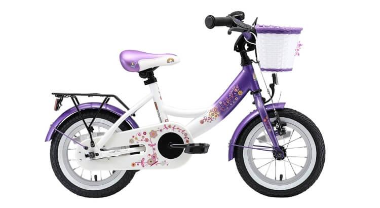Migliori biciclette per bimbe di 2-4 anni: Bicicletta 12'' Premium Caramella Lilla & Diamante Bianco di BIKESTAR®