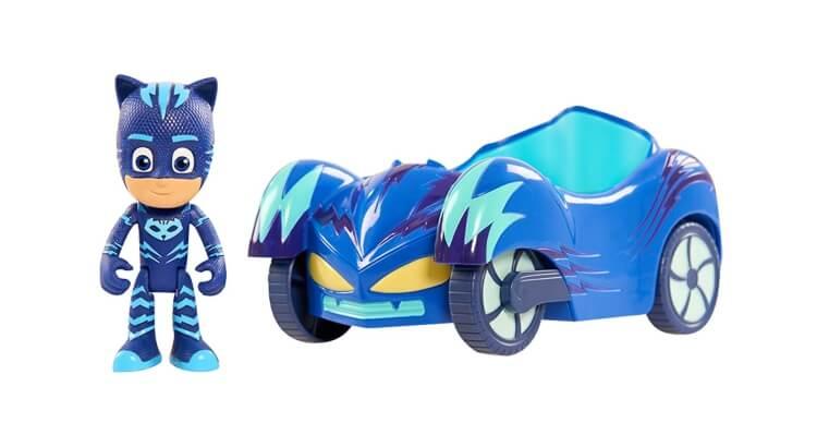 Migliori giochi e giocattoli PJ Masks: Figurina di Gattoboy con la sua macchina