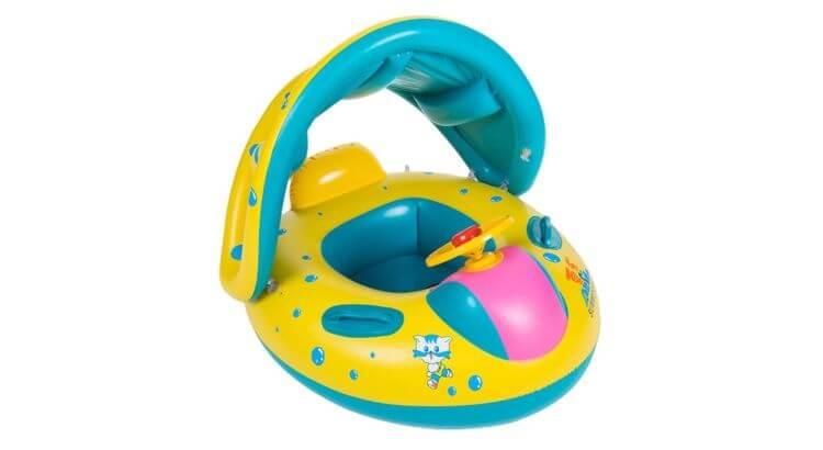 Migliori gonfiabili acquatici per mare e piscina: Ciambella galleggiante gonfiabile per bambini a forma di auto