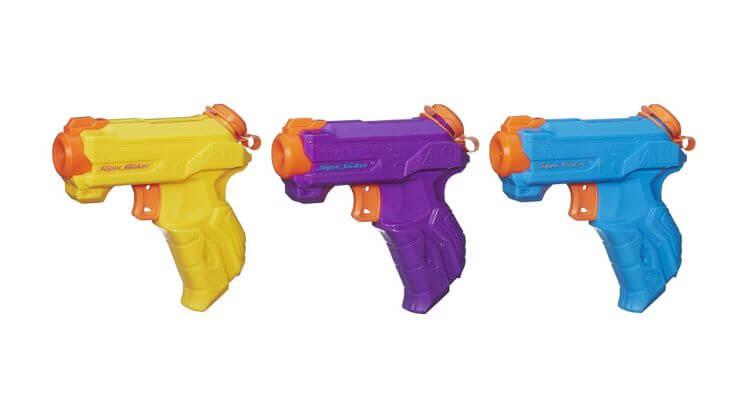 Migliori pistole ad acqua: Set di mini pistole ad acqua Nerf Super Soaker di Hasbro