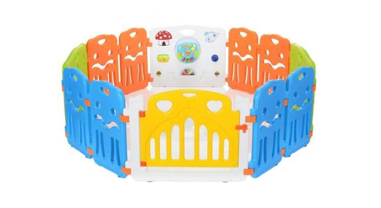 Migliori recinti e box per bambini: Box per bambini a 12 lati con cancelletto di LCP Kids