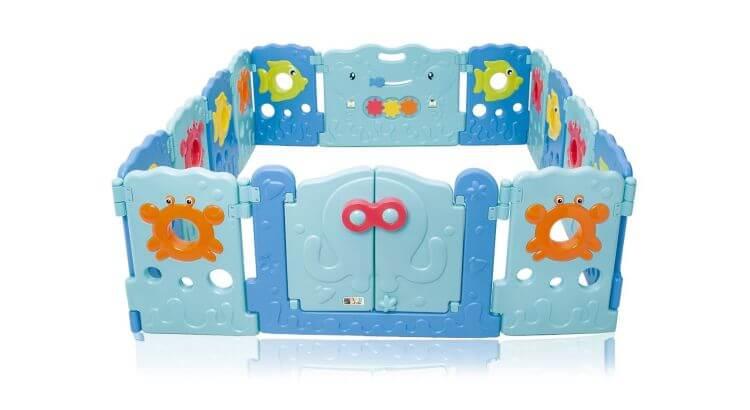 Migliori recinti e box per bambini: Box per bambini Sea World di BABY VIVO