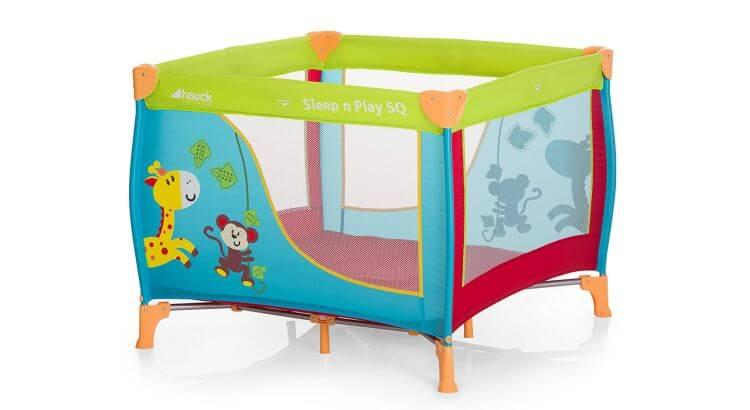 Migliori recinti e box per bambini: Lettino da campeggio Sleep'N Play Jungle Fun di Hauck
