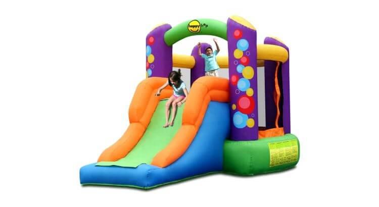 Migliori castelli gonfiabili: Castello gonfiabile Balloon con scivolo di Happy Hop