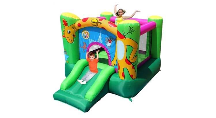 Migliori castelli gonfiabili: Castello gonfiabile Giraffa con scivolo di Happy Hop
