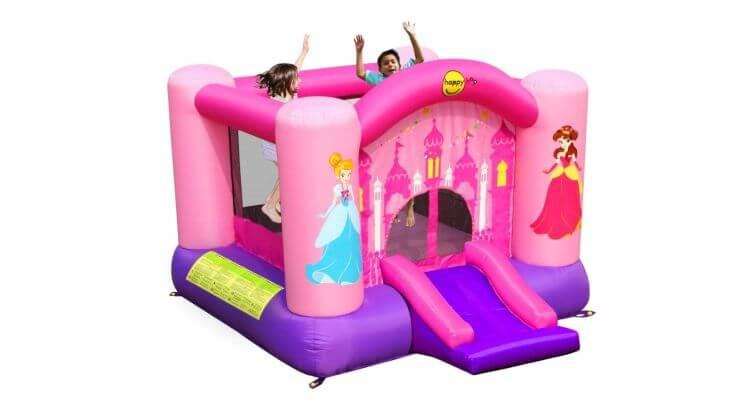 Migliori castelli gonfiabili: Castello gonfiabile Principessa con scivolo di Happy Hop