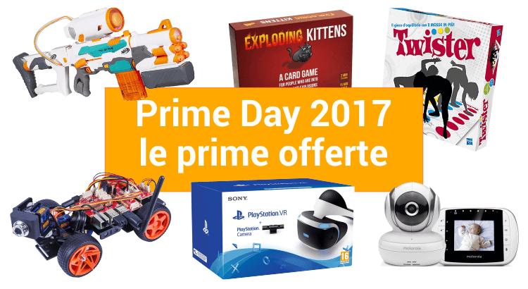 Prime Day 2017: sconti pazzi su migliaia di articoli (anche su giocattoli e prodotti per la prima infanzia), a partire da…ORA!