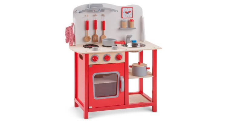 Migliori cucine per bambini (in plastica e legno): Cucina in Legno Accessoriata di New Classic Toys