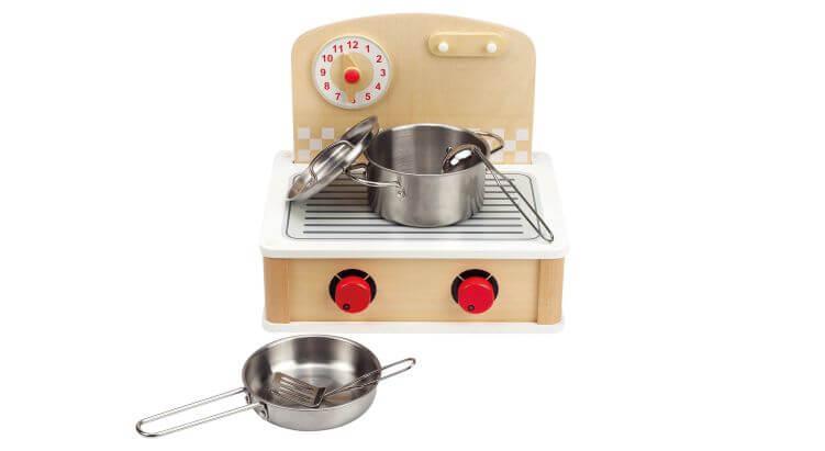 Migliori cucine per bambini (in plastica e legno): Cucinetta in Legno Portatile di Hape