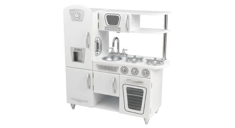 Migliori cucine per bambini (in plastica e legno): Cucina in Legno Vintage Bianca di KidKraft