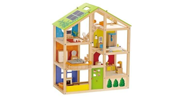 Migliori case delle bambole (in plastica e legno): Casa delle bambole in legno Quattro Stagioni di Hape