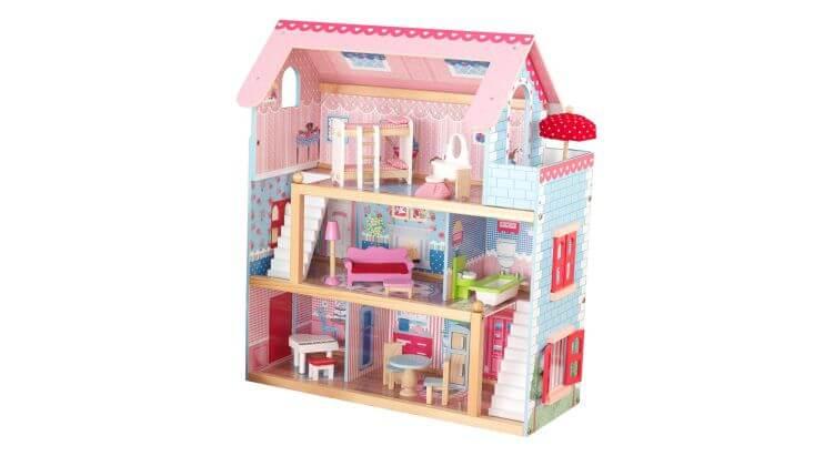Migliori case delle bambole (in plastica e legno): Casa delle bambole Chelsea Cottage di KidKraft