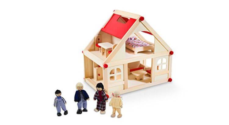 Migliori case delle bambole (in plastica e legno): Casa delle bambole in legno di Glow2B Spielwaren