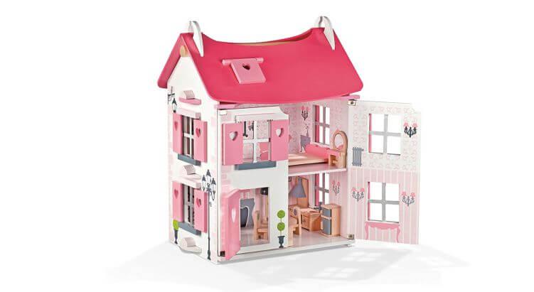 Migliori case delle bambole (in plastica e legno): Casa delle bambole in legno Mademoiselle di Janod