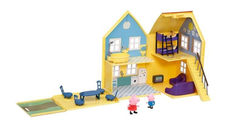 Migliori case delle bambole (in plastica e legno): La Grande Casa Deluxe di Peppa Pig di Giochi Preziosi