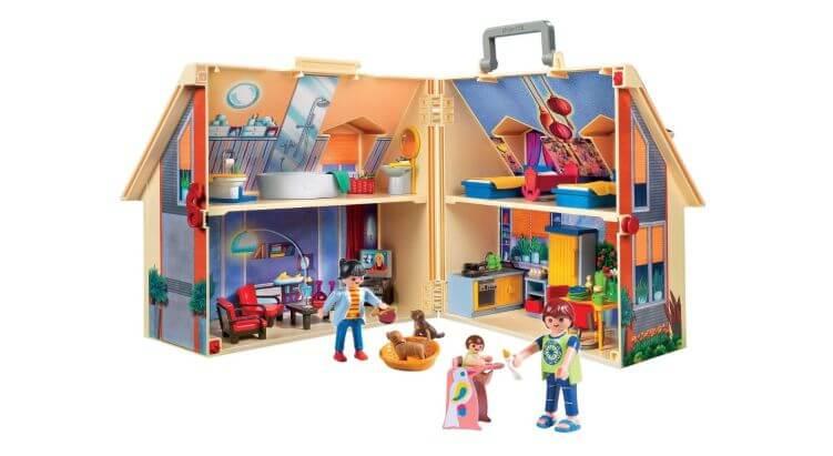 Migliori case delle bambole (in plastica e legno): Casa delle Bambole Portatile di Playmobil