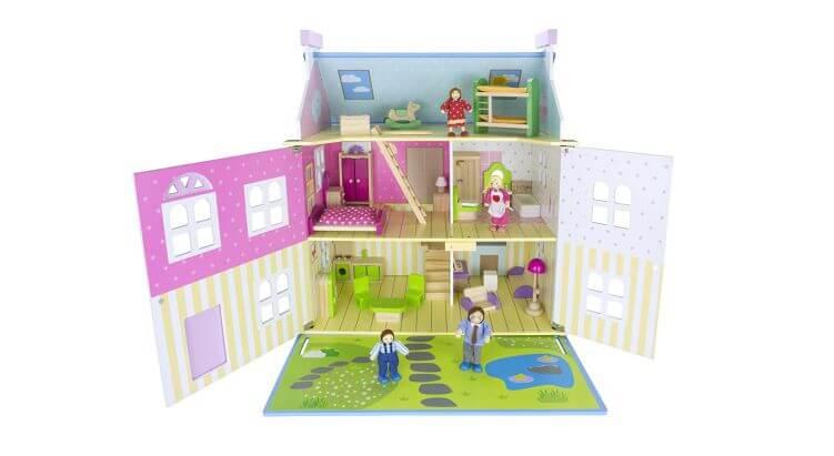 Migliori case delle bambole (in plastica e legno): Casa delle bambole in legno Villa Alpina Azzurra di Leomark