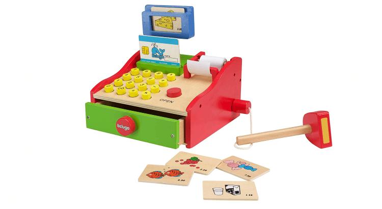 Migliori supermercati giocattolo:Registratore di cassa in legno di Beluga
