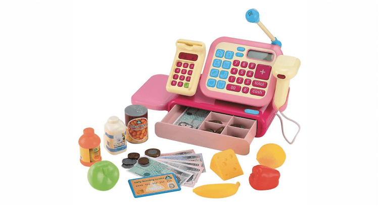 Migliori supermercati giocattolo:Registratore di cassa rosa di Elc