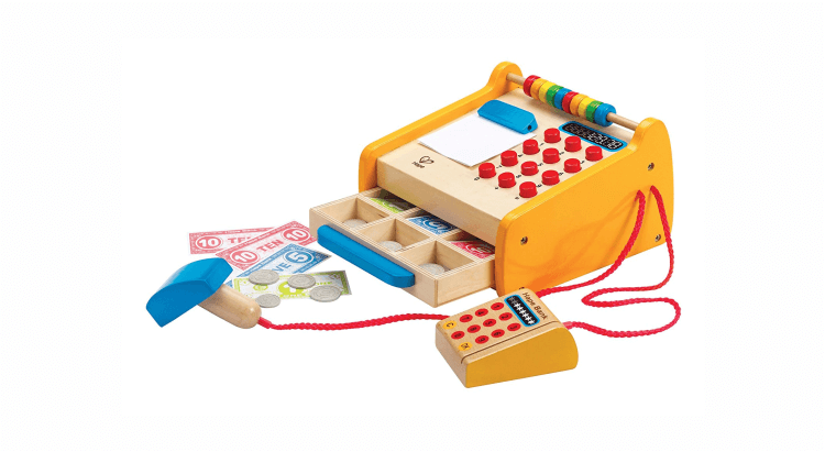 Migliori supermercati giocattolo:Registratore di cassa in legno di Hape